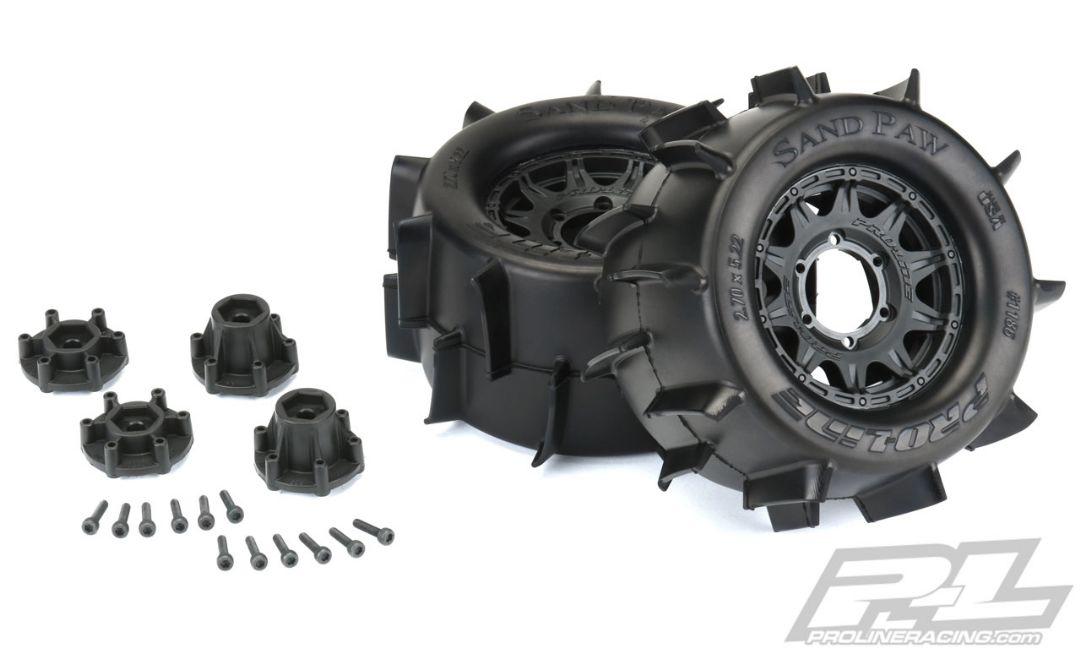 "Pro-Line Sand Paw 2.8"" MTD Raid Black 6x30 F/R"