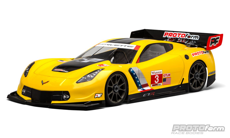 Pro-Line Chevrolet Corvette C7.R Clear Body for 1/8 GT (Long Wheelbase)