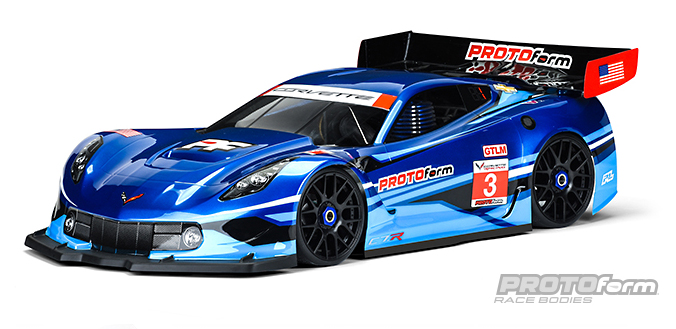 Pro-Line Chevrolet Corvette C7.R Clear Body for 1/8 GT (Short Wheelbase)