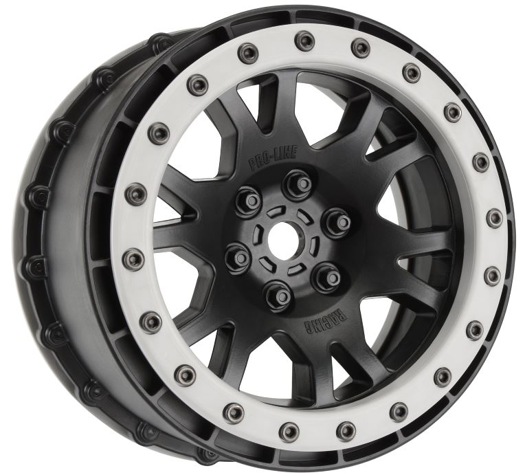 Pro-Line Impulse Pro-Loc Black Wheels with Stone Gray Rings for X-MAXX Front or Rear