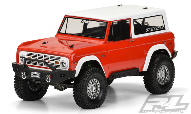 Pro-Line 1973 Ford Bronco Clear Body for 12