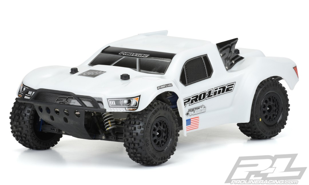 Pro-Line Pre-Cut Flo-Tek Fusion Bash Armor Body (White) for PRO-Fusion SC 4x4, Slash 2wd, Slash 4x4, SC6.1, 22SCT & SCTE