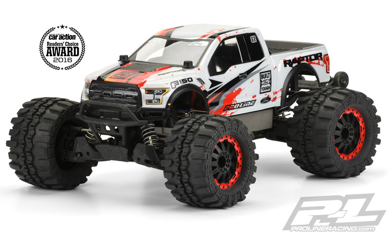 Pro-Line 2017 Ford F-150 Raptor Clear Body for Stampede