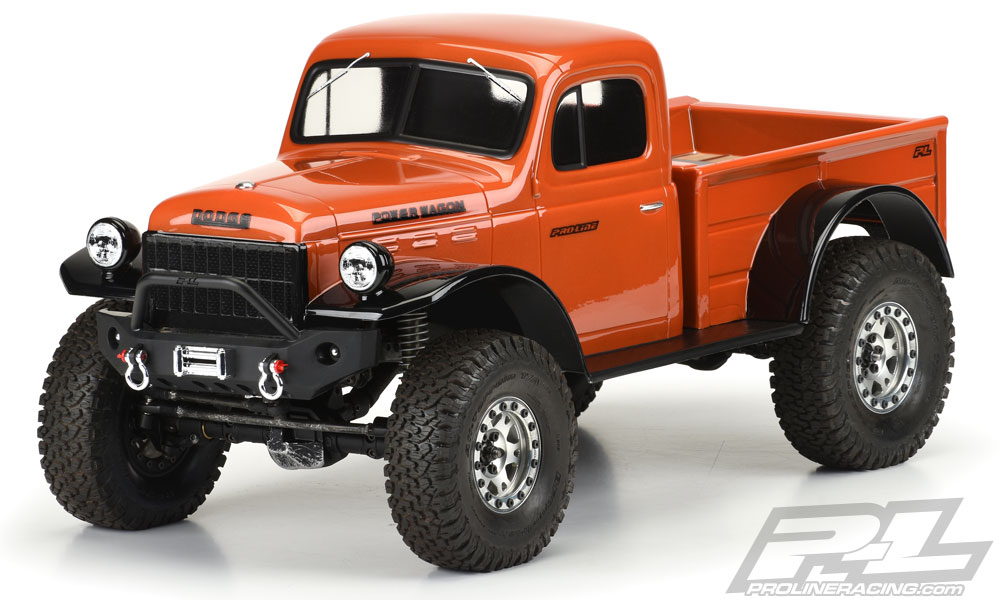 "Pro-Line 1946 Dodge Power Wagon Clr Bdy 12.3"" Crawlers"