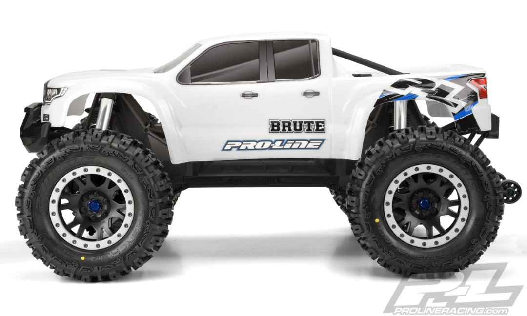 Pro-Line Pre-Cut Brute Bash Armor Body (White) for X-MAXX