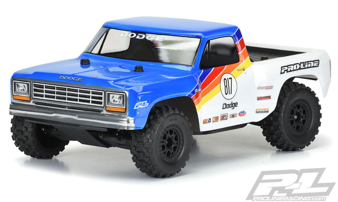Pro-Line 1984 Dodge Ram 1500 Race Truck Clear Body for Slash 2wd, Slash 4x4 & PRO-Fusion SC 4x4 (with extended body mounts)