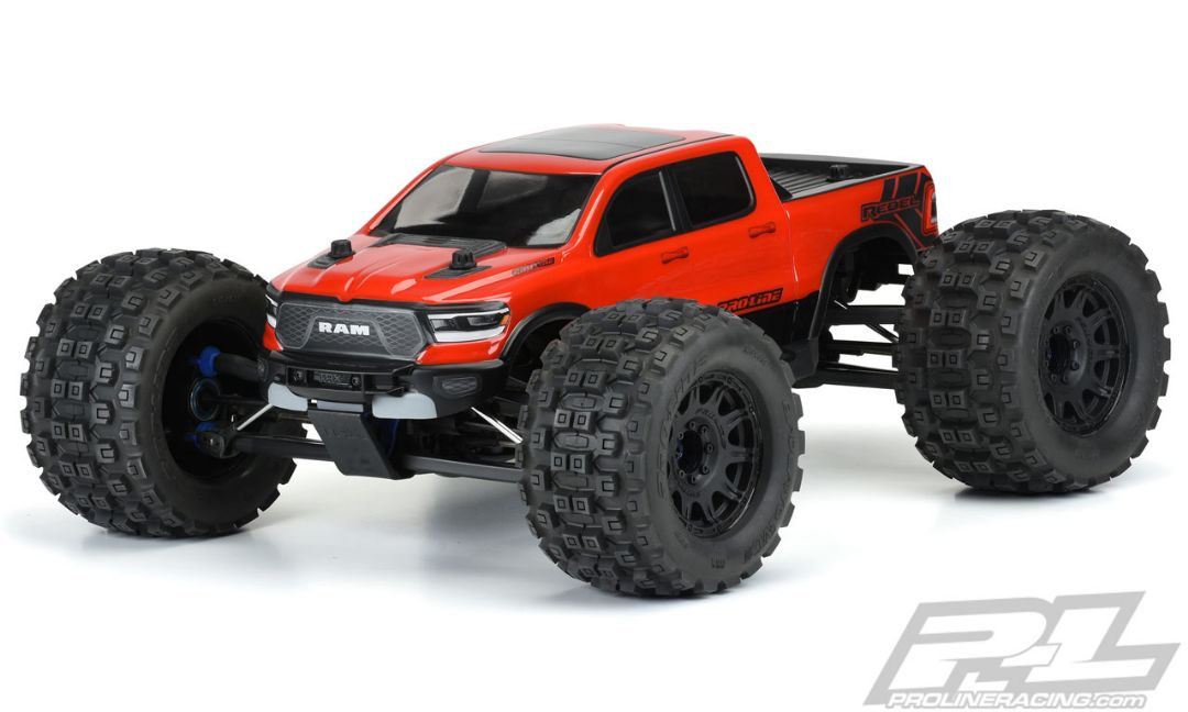Pro-Line Pre-Cut 2020 Ram Rebel 1500 Clear Body for E-REVO 2.0 (with extended body mounts)