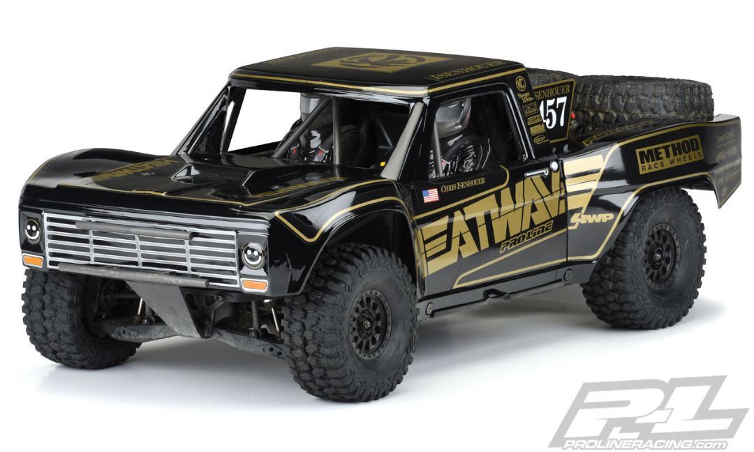 Pro-Line Pre-Painted / Pre-Cut 1967 Ford F-100 Race Truck Heatwave Edition (Black) Body for Unlimited Desert Racer