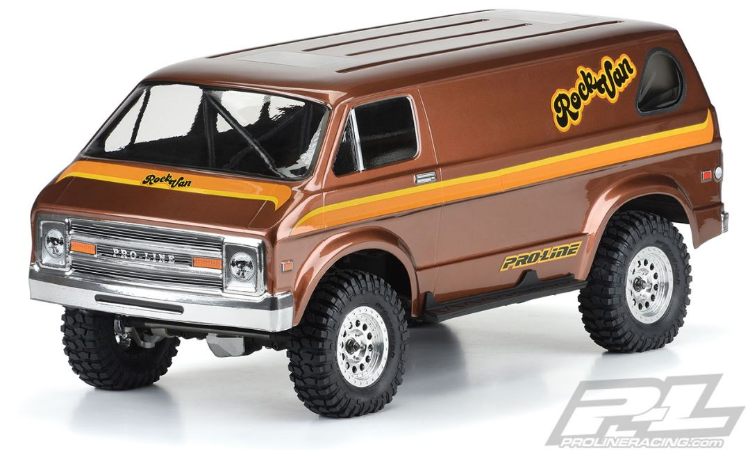 "Pro-Line 70's Rock Van Clear Body for 12.3"" (313mm) Crawlers"