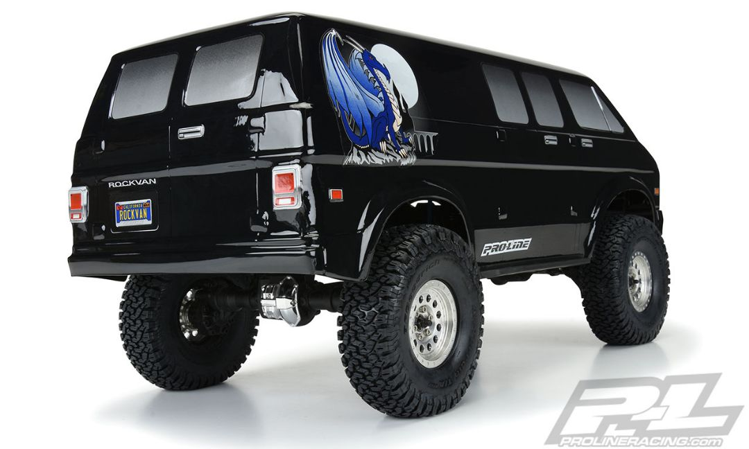 Pro-Line 70's Rock Van Tough-Color (Black) Body for 12.3""