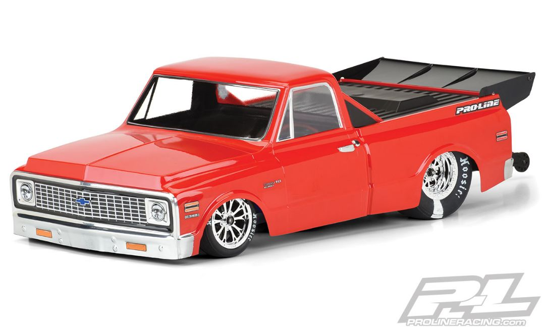 Pro-Line 1972 Chevy C-10 Clear Body for Slash 2wd Drag Car & AE DR10 (with trimming)