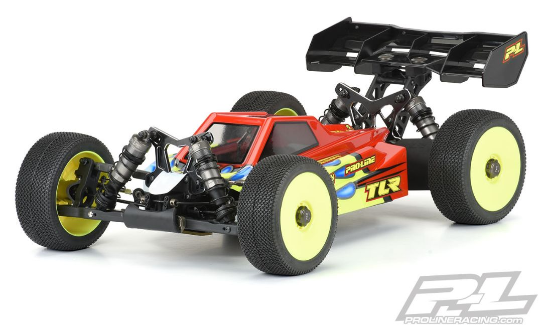 Pro-Line Axis Clear Body for TLR 8ight-XE (with LCG Battery) - Click Image to Close