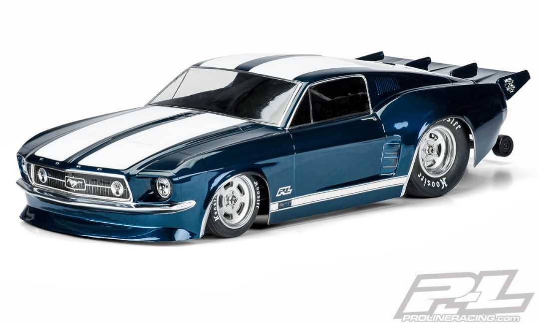 Pro-Line 1967 Ford Mustang Clear Body for Losi 22S No Prep Drag Car, Slash 2wd Drag Car & DR10