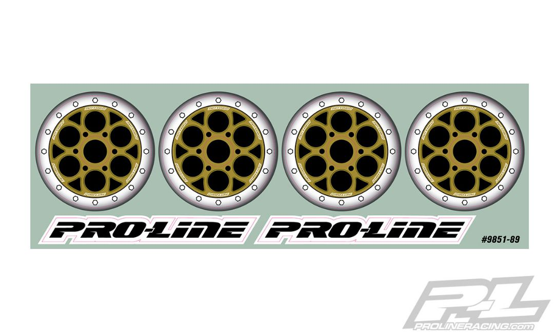 Pro-Line Showtime Bi-Metallic (Silver/Gold) Wheel Dots for Pro-Line Showtime (2782-03 & 2783-03) and other Sprint Car Dish Wheels