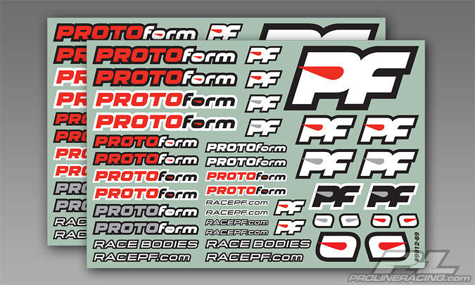 Pro-Line PROTOform Team Decals Rd/Bk/Wt