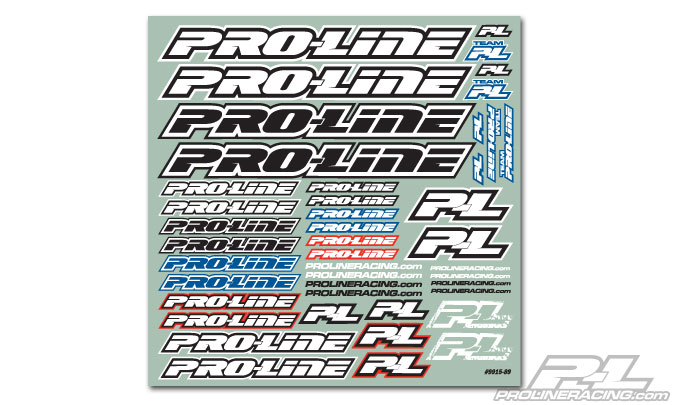 Pro-Line Team Decal B&W