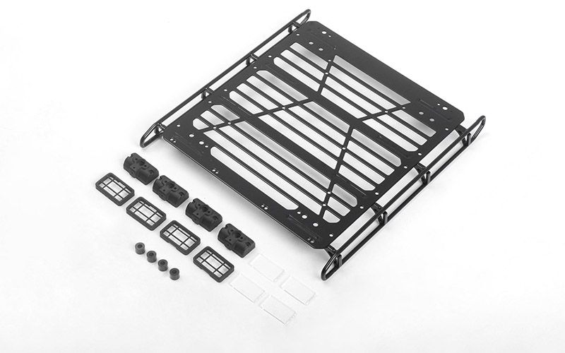 RC4WD Adventure Steel Roof Rack w/ Front and Rear Lights for Mercedes-Benz G 63 AMG 6x6