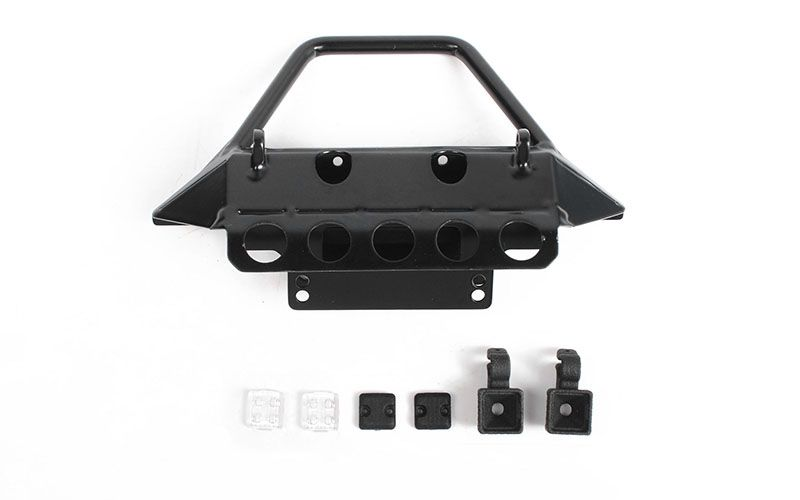 RC4WD Rough Stuff Metal Front Bumper w/ Flood Lights for Axial 1