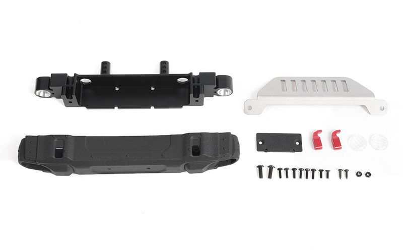 RC4WD OEM Front Bumper w/ License Plate Holder + Steering Guard