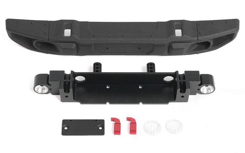 RC4WD OEM Wide Front Bumper w/ License Plate Holder for Axial 1/