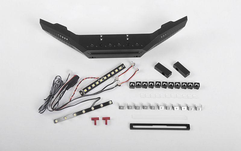 RC4WD Assailant Front Bumper w/ LEDs for Desert Runner w/ Hero Hard Body Set