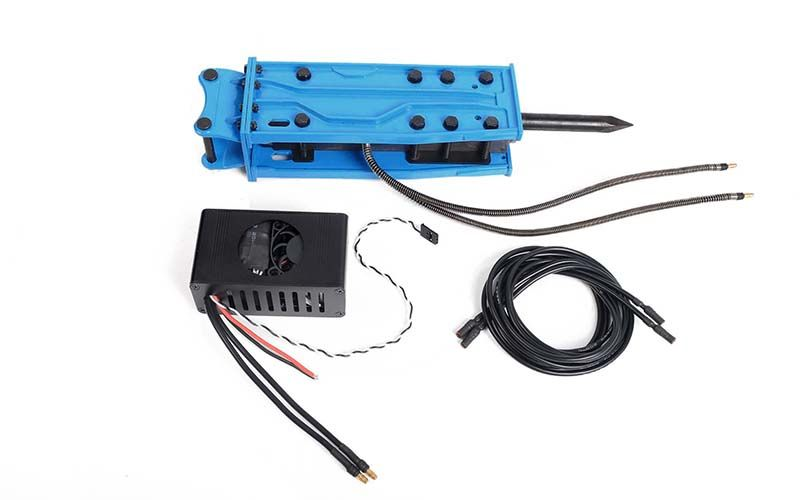 RC4WD Breaker / Hammer Accessory for 1/14 Scale RTR Earth Digger 360L Hydraulic Excavator (Blue)