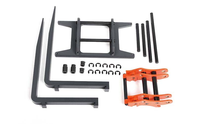 RC4WD Quick Connect Pallet Fork Attachment for 1/14 Scale Earth Mover 870K Hydraulic Wheel Loader