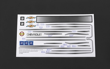 RC4WD Chevrolet Blazer Decal Sheet Set for Chevy Blazer Body