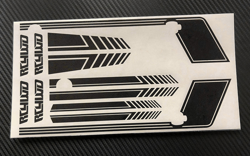 RC4WD Clean Stripes D90 Decal Sheet (Black)