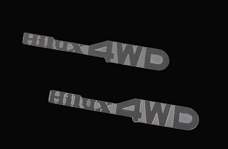 RC4WD 1/10 Hilux 4WD Emblem Set for Mojave and Hilux Body