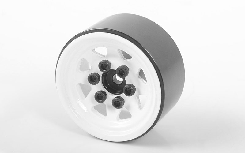 RC4WD Stamped Steel 1.0'' Stock Beadlock Wheels (White)