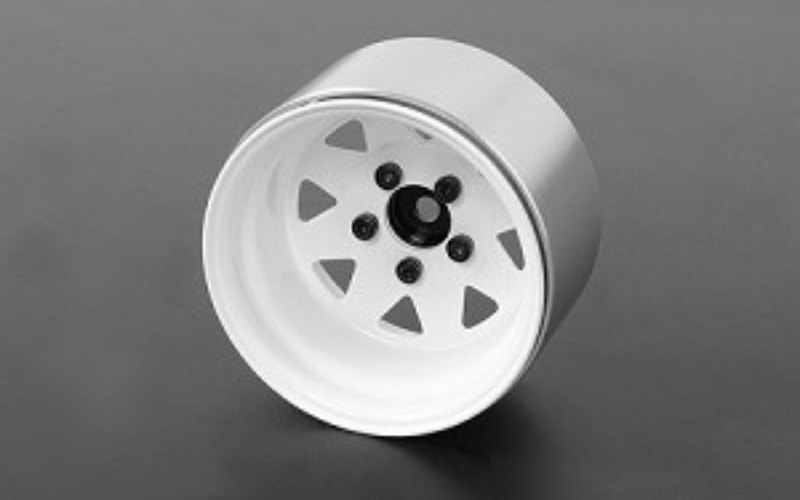 RC4WD 5 Lug Deep Dish Wagon 1.9 in Steel Stamped Beadlock Wheels (White)