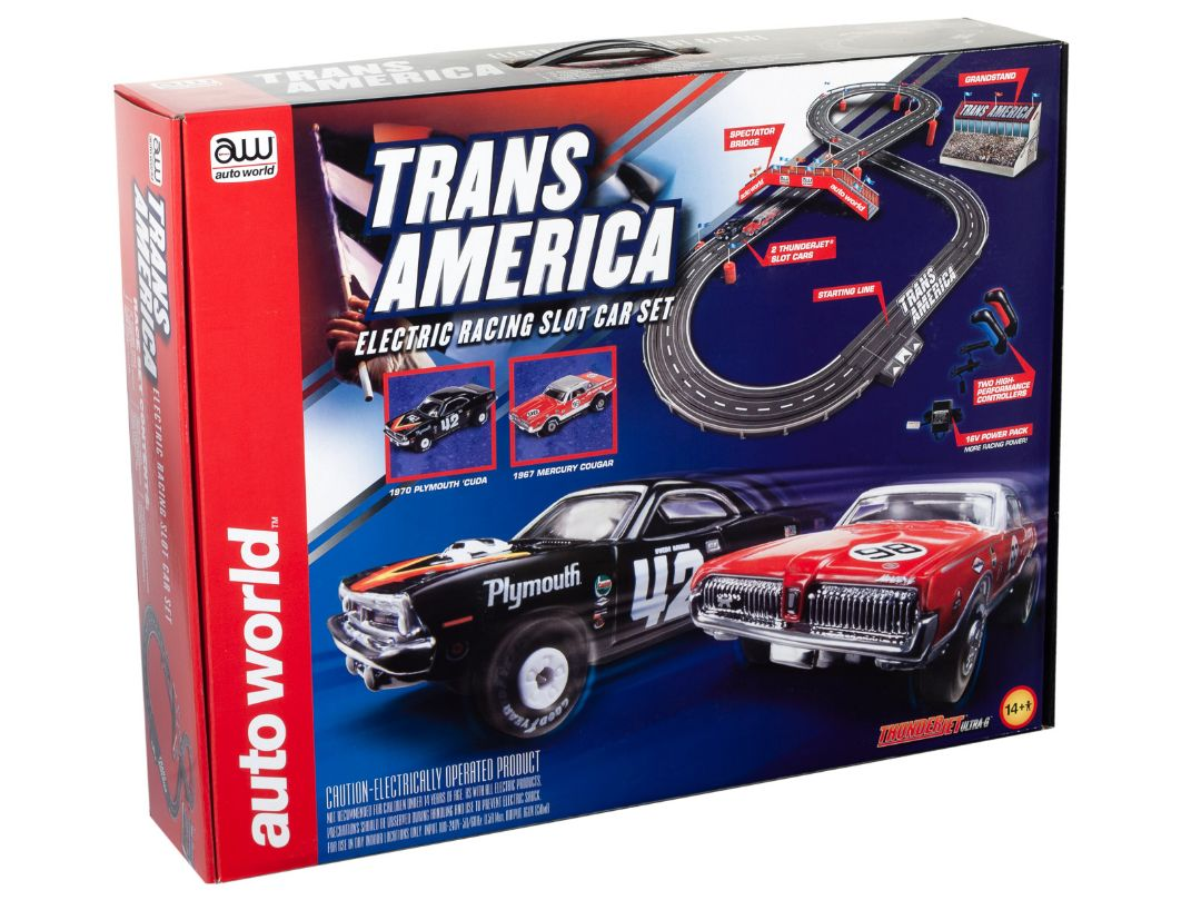 Auto World 10' Trans America Slot Race Set