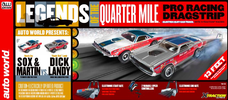 Auto World 13' Legends of the Quarter Mile Drag Race Set