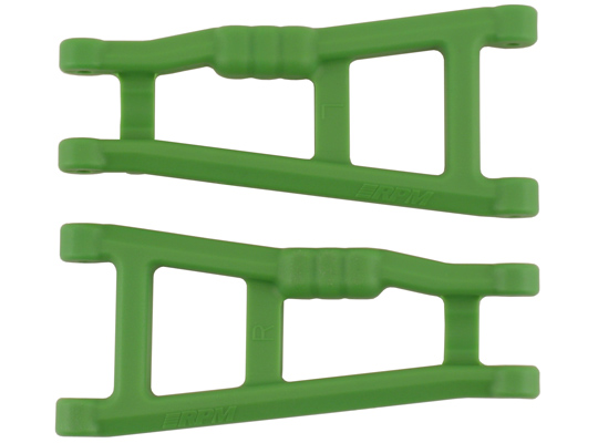 RPM Rear Arms for the Traxxas Electric Rustler & Electric Stampede 2wd - Green