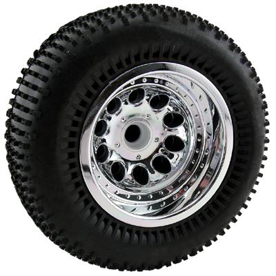 RPM Revolver Front Wheels for Rustler, Stampede 2wd - Chrome