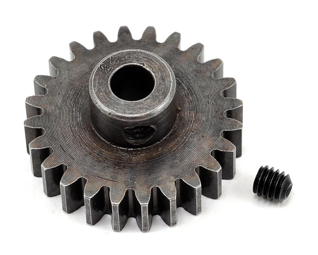 Robinson Racing Mod 1 Extra Hard Steel Pinion Gear 5mm Shaft (24)
