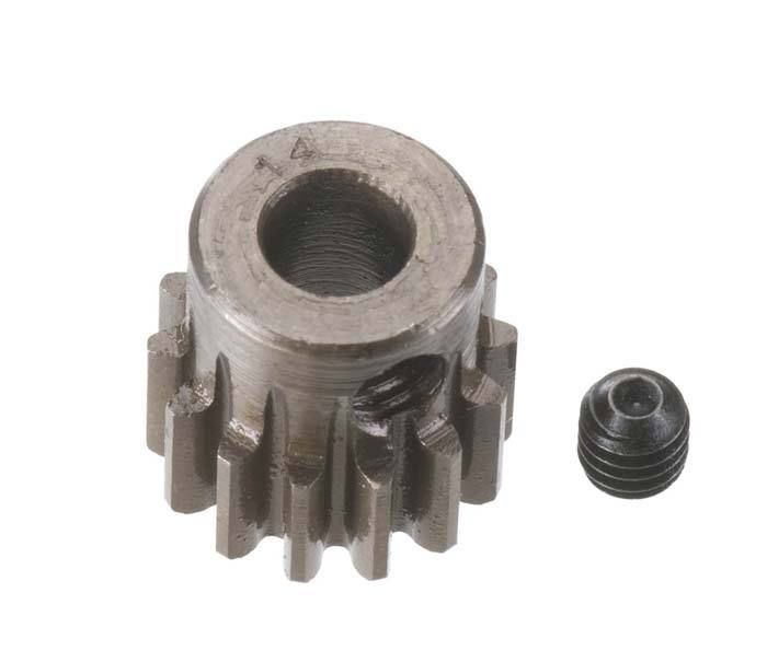 Robinson Racing Extra Hard Steel .8 Mod Pinion Gear w/5mm Bore (14)