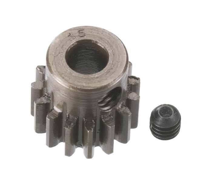 Robinson Racing Extra Hard Steel .8 Mod Pinion Gear w/5mm Bore (15)