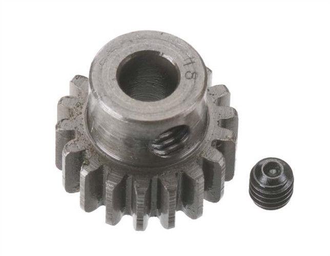 Robinson Racing Extra Hard Steel .8 Mod Pinion Gear w/5mm Bore (18)