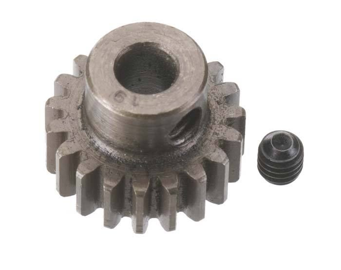 Robinson Racing Extra Hard Steel .8 Mod Pinion Gear w/5mm Bore (19)