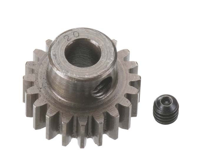Robinson Racing Extra Hard Steel .8 Mod Pinion Gear w/5mm Bore (20)