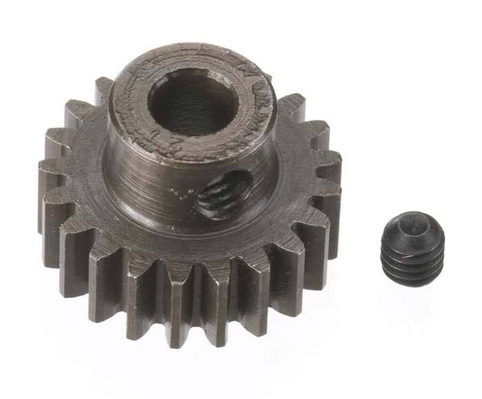 Robinson Racing Extra Hard Steel .8 Mod Pinion Gear w/5mm Bore (21)