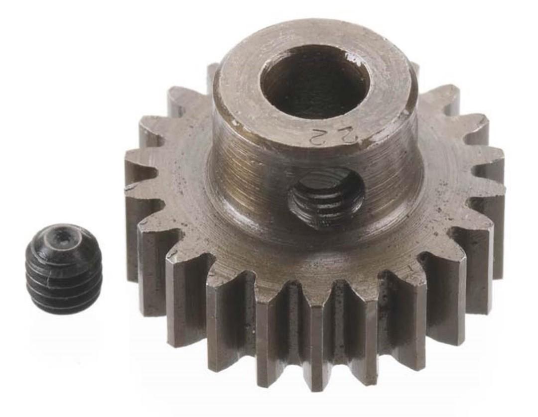 Robinson Racing Extra Hard Steel .8 Mod Pinion Gear w/5mm Bore (22)