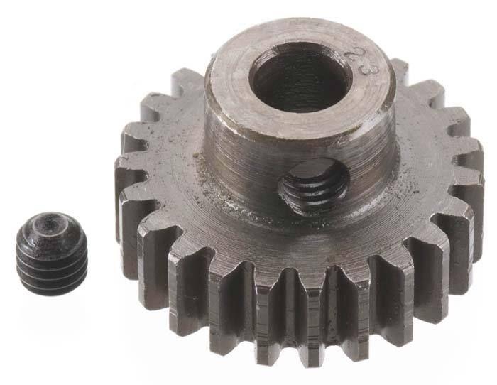 Robinson Racing Extra Hard Steel .8 Mod Pinion Gear w/5mm Bore (23)