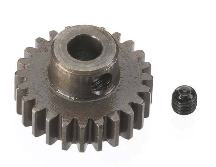 Robinson Racing Extra Hard Steel .8 Mod Pinion Gear w/5mm Bore (24)