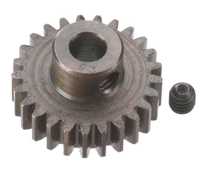 Robinson Racing Extra Hard Steel .8 Mod Pinion Gear w/5mm Bore (25)