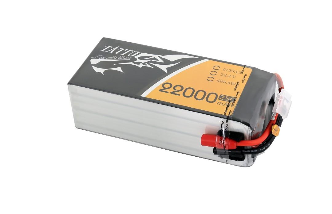 Tattu - 133 - 22000mAh 6S1P 22.2V 25C LiPo AS150 Plug Soft Case 200x91x64mm