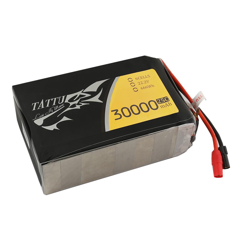 Tattu - 149 - 30000mAh 6S1P 22.2V 25C LiPo AS150 Plug Soft Case 205x131x66mm
