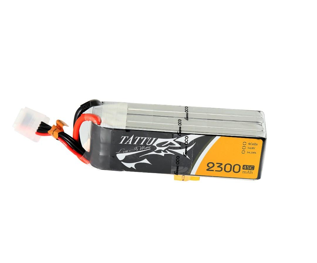 Tattu - 099 - 2300mAh 4S1P 14.8V 45C LiPo XT60 Plug Soft Case 106x36x31mm